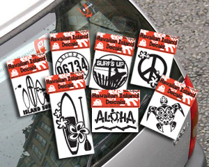 hawaiian decals