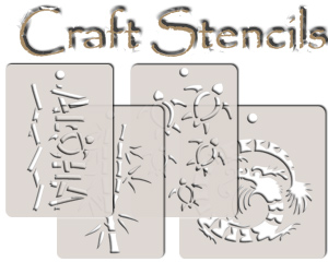 hawaiian craft stencils