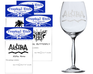 hawaiian glass etching stencils