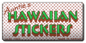 Aunties hawaiian stickers